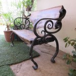 Blacksmithing  Solid Wood Outdoor Bench Chyma Metal Artist Cape Town